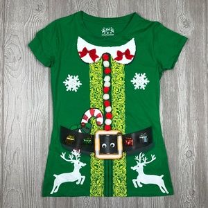 Customized Jem Ugly Christmas Elf Shirt Green Med
